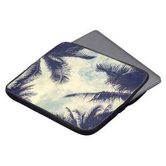 Tropical Summer Sky and Palm Leaves Laptop Sleeve
