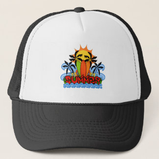 Tropical summer trucker hat