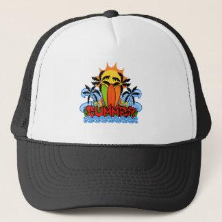 Tropical summer trucker hat