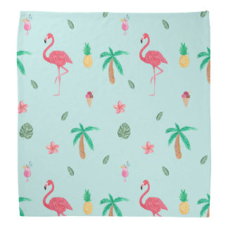 Tropical Summer Turquoise Pattern Do-rag