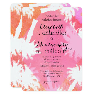 Tropical Summer Wedding Invite