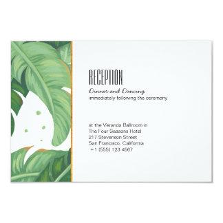 Tropical Summer Wedding Reception Card
