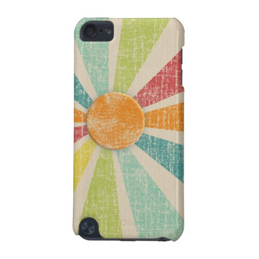 Tropical Sunburst Tangerine Distressed iPod Touch (5th Generation) Cover