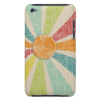 Tropical Sunburst Tangerine Distressed iPod Touch Cover