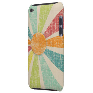 Tropical Sunburst Tangerine Distressed iPod Touch Cases