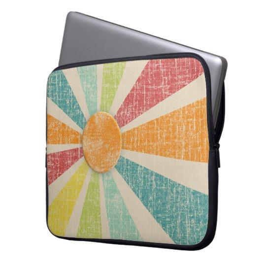Tropical Sunburst Tangerine Distressed Laptop Sleeve
