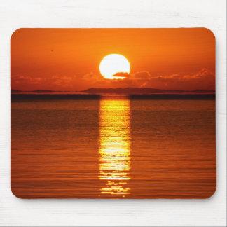 Tropical Sunrise in Orange Mouse Pad