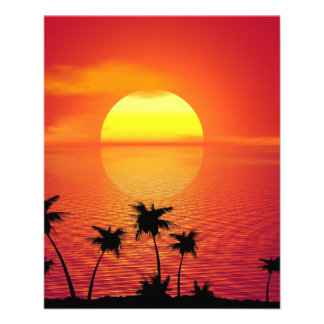 Tropical Sunset 11.5 Cm X 14 Cm Flyer