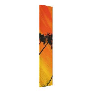 Tropical Sunset 1-4 Canvas Print