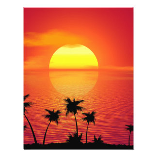 Tropical Sunset 21.5 Cm X 28 Cm Flyer