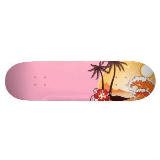 Tropical Sunset 21.6 Cm Skateboard Deck