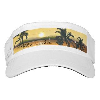 Tropical Sunset Beach Palm Trees Sun Visor Custom