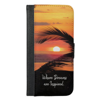 Tropical Sunset Beach View iPhone 6/6s Plus Wallet Case
