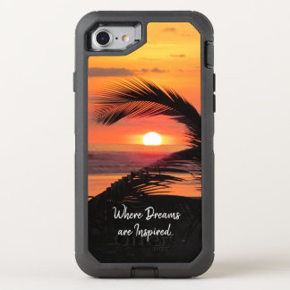 Tropical Sunset Beach View OtterBox Defender iPhone 8/7 Case