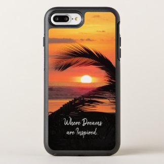 Tropical Sunset Beach View OtterBox Symmetry iPhone 8 Plus/7 Plus Case