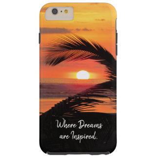 Tropical Sunset Beach View Tough iPhone 6 Plus Case
