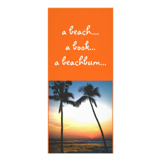 Tropical Sunset bookmark Customized Rack Card