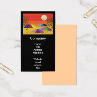 Tropical Sunset Business Cards