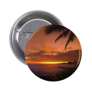 tropical sunset button