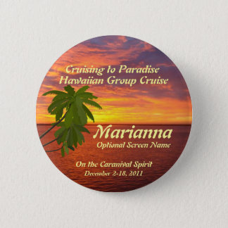 Tropical Sunset Cruise Name Badge
