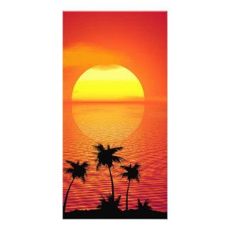 Tropical Sunset Customised Photo Card