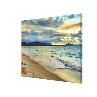 Tropical Sunset Glow Gallery Wrap Canvas