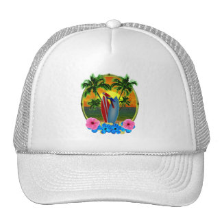 Tropical Sunset Hats