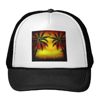 Tropical Sunset Mesh Hats