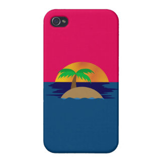 Tropical Sunset iPhone 4 Cover