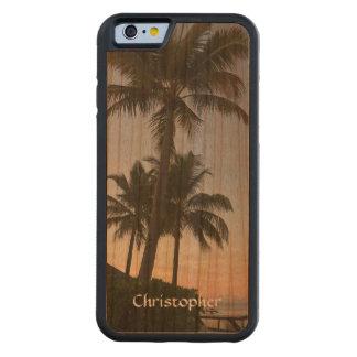 Tropical Sunset Maldives Palm Trees Handmade Cherry iPhone 6 Bumper Case