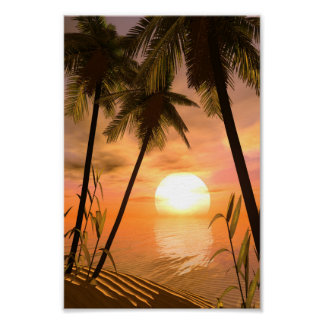 Tropical Sunset Mini Poster