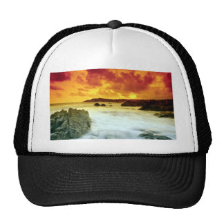 Tropical sunset on the Mexican riviera, Mazatlan, Mesh Hat