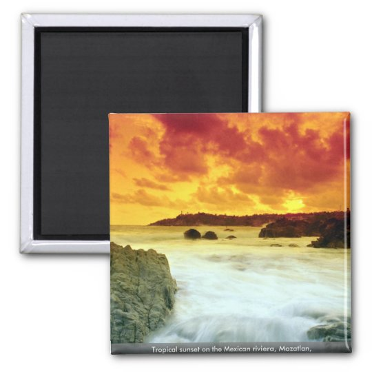 Tropical sunset on the Mexican riviera, Mazatlan, Magnet