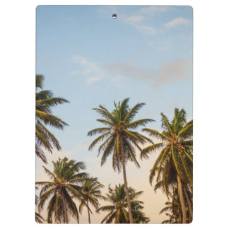 Tropical sunset palm trees in Vintage Style Clipboard