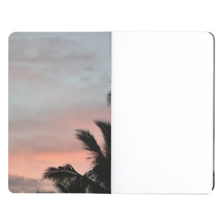 Tropical sunset palm trees pocket journal