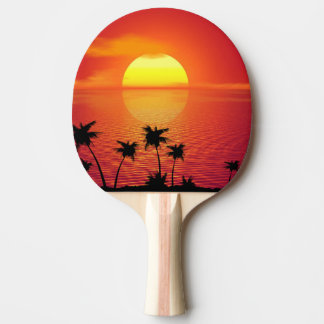 Tropical Sunset Ping Pong Paddle