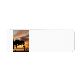 Tropical Sunset Return Address Label