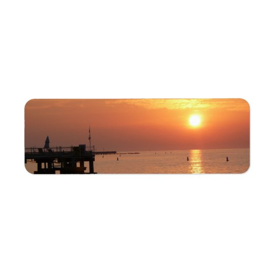 Tropical sunset return address labels