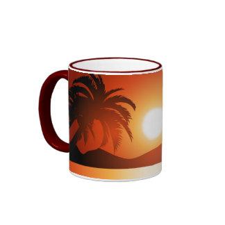 tropical Sunset Ringer Mugs