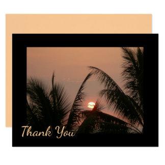 Tropical Sunset Thank You Card 11 Cm X 14 Cm Invitation Card