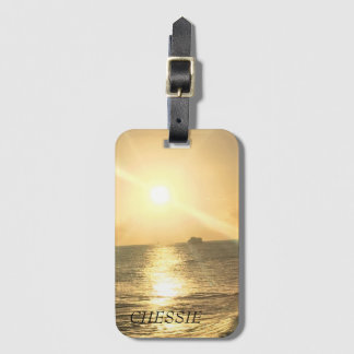 Tropical  Sunset with Beautiful Colours Luggage Tag