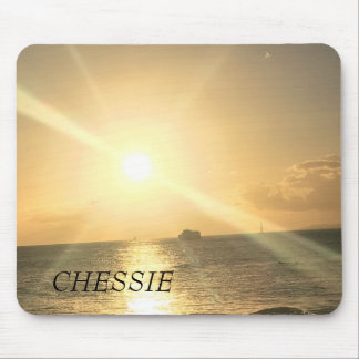 Tropical  Sunset with Beautiful Colours Mouse Pad