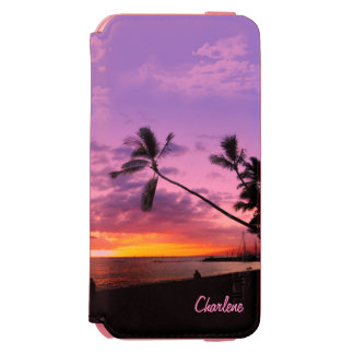Tropical Sunset with your Name Incipio Watson™ iPhone 6 Wallet Case