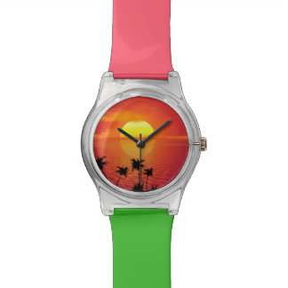 Tropical Sunset Wrist Watches
