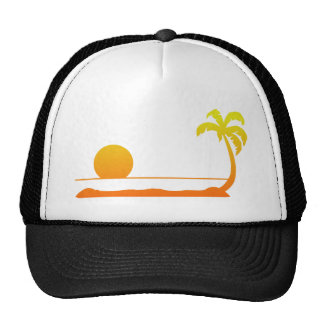 Tropical Sunset - Yellow/Red Cap
