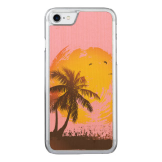Tropical Sunshine Carved iPhone 7 Case