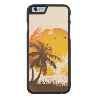 Tropical Sunshine Carved Maple iPhone 6 Case
