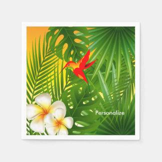 Tropical Sunshine with a Hummingbird Paper Serviettes