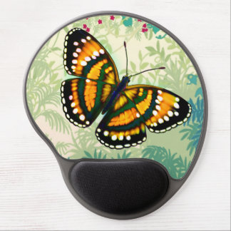 Tropical Sunshine Yellow Butterfly Gel Mousepad