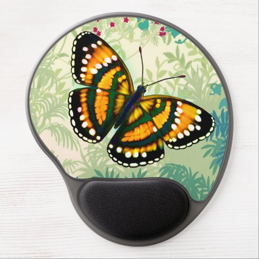 Tropical Sunshine Yellow Butterfly Gel Mousepad